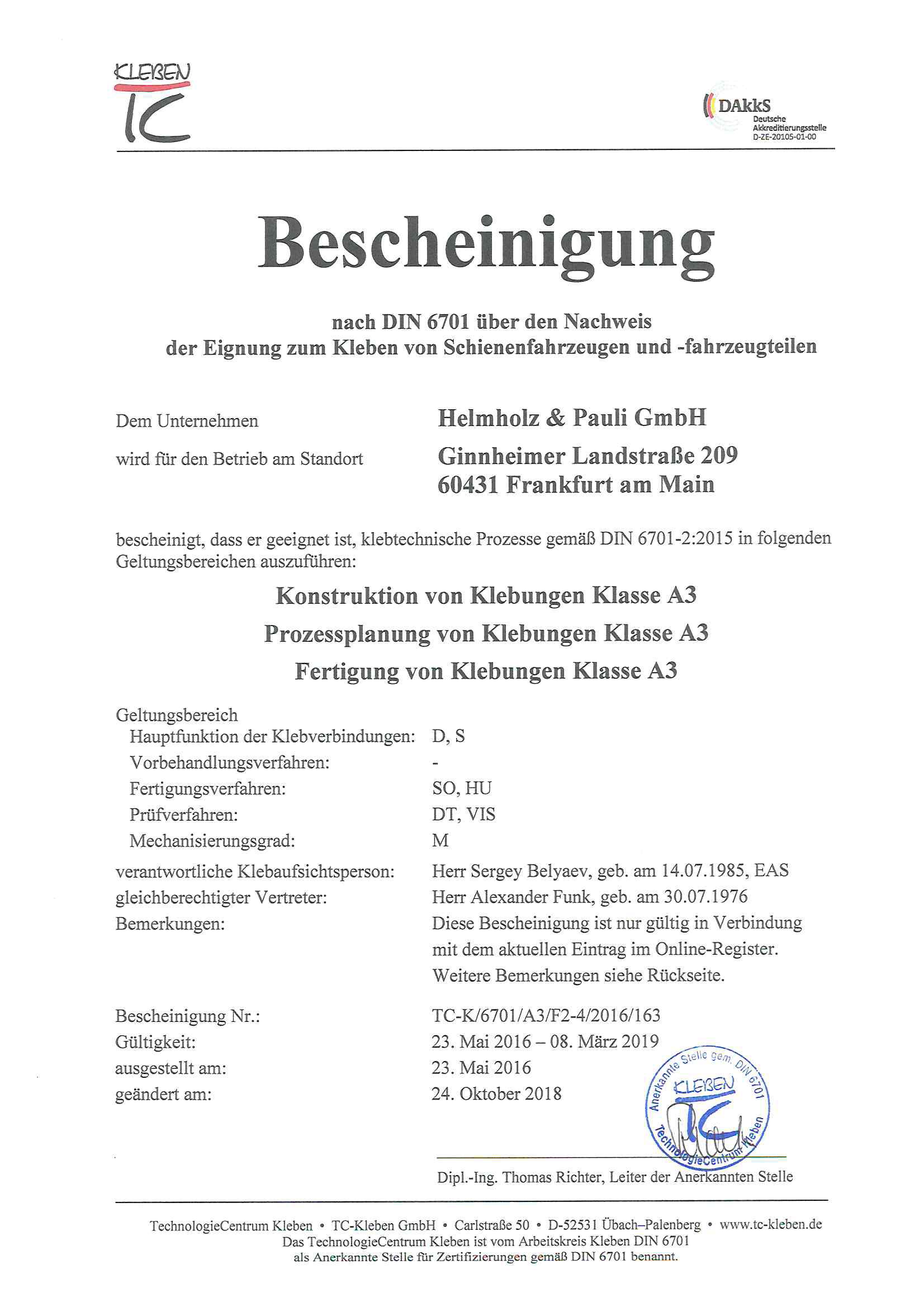 DIN6701-kleben
